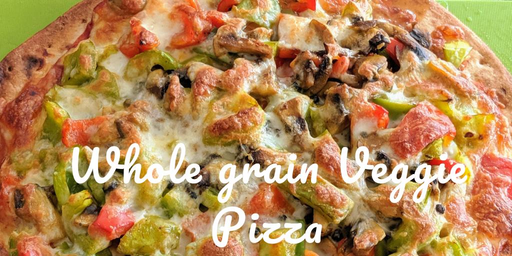 Whole grain vegetable pizza