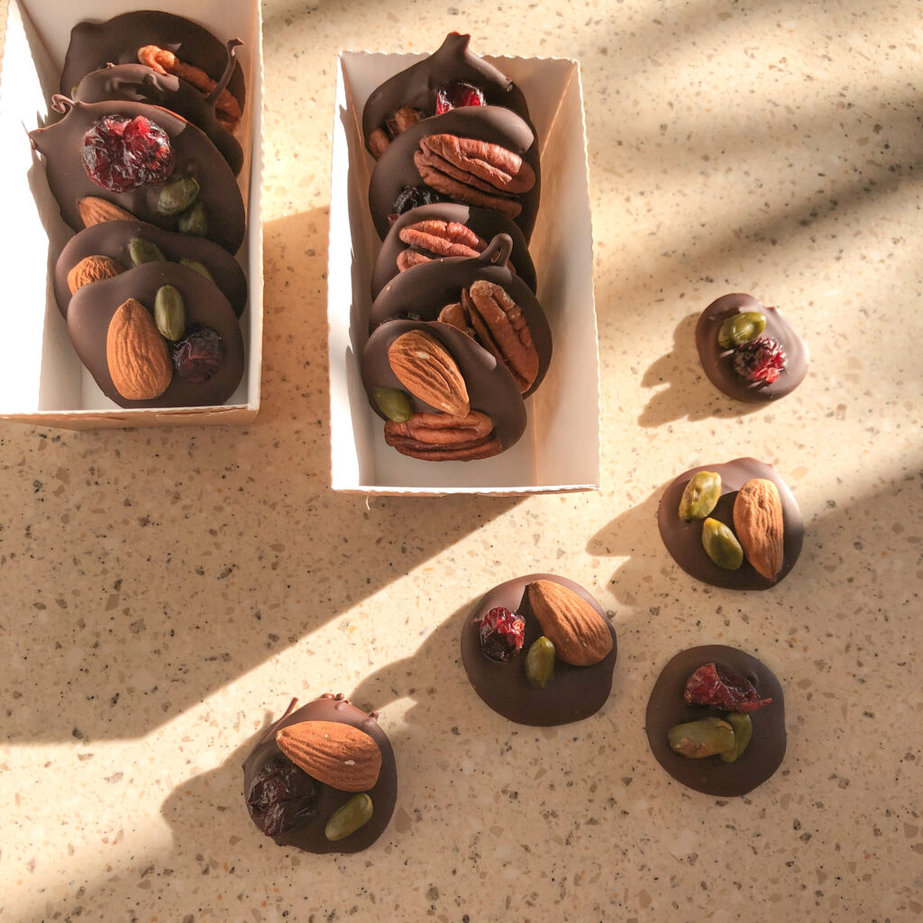 Healthy French Chocolate Mendiants
